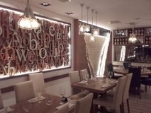 Restaurant moderne Photos stock