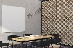 Restaurant moderne avec la bannière vide illustration de vecteur
