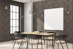 Restaurant moderne avec le panneau d'affichage vide illustration de vecteur