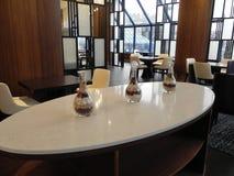 Restaurant moderne de style d'intérieur à l'hôtel Photo libre de droits
