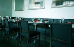 Restaurant moderne et élégant Images libres de droits