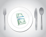 Restaurant money illustration design Stock Photography