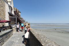 Restaurant in Mont Saint Michel, France Royalty Free Stock Photo