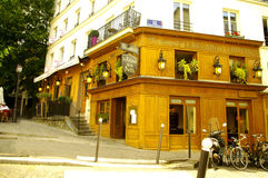 Restaurant in Montmartre Stock Images
