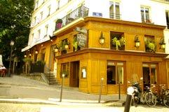 Restaurant in Montmartre Stock Afbeeldingen