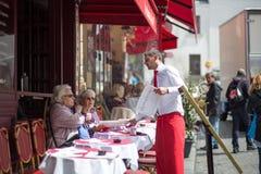 Restaurant in Montmartre, Paris Lizenzfreie Stockfotos