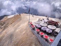 Restaurant at Mount Tahtali, Turkey Royalty Free Stock Photos