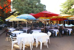 Restaurant Mozambique. A restaurant close to the fish market in Mozambique Royalty Free Stock Images