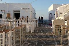Restaurant in Naousa Stock Afbeeldingen