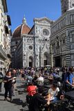Restaurant near the cathedral of Florence, Italy royalty free stock photography
