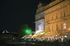 Restaurant near Vltava river Royalty Free Stock Images