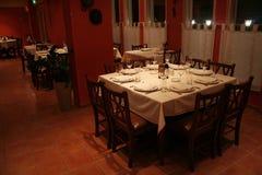 Restaurant at night. Interior of a restaurant in Nicosia- Cyprus Stock Photo