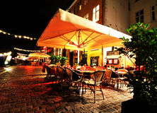 Restaurant at night Stock Image