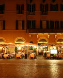 Restaurant at night. Roman restaurant at night (Rome, Italy Royalty Free Stock Images