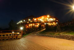 Restaurant at night Stock Photography