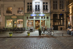 Restaurant at night Royalty Free Stock Photography