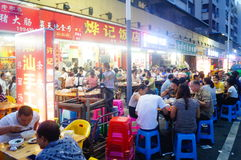 The restaurant the night market stalls Stock Images