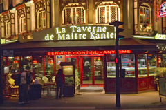 Restaurant at night, Paris, France Stock Image