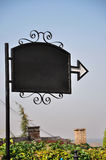 Restaurant noticeboard stock afbeelding