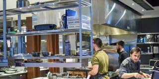 Restaurant occupé de Vancouver de temps n'importe où image libre de droits