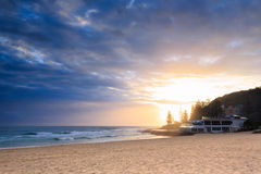Restaurant by the ocean in Burleigh Heads Stock Image