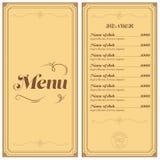 Restaurant- oder Cafémenü Lizenzfreies Stockfoto