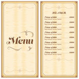 Restaurant- oder Cafémenü Lizenzfreie Stockbilder