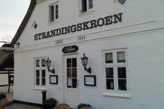 Restaurant in old building. Restaurant Strandingskroen in old building in Blokhus Royalty Free Stock Images
