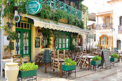 Restaurant in old part of Malia. Royalty Free Stock Images