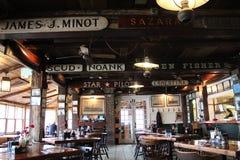 Free Restaurant On Marthas Vineyard, Random Signs On Ceiling Stock Photo - 171920200