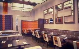 Restaurant in oostelijke stijl stock afbeeldingen