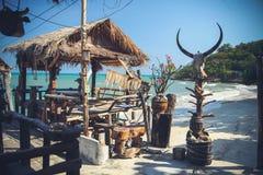 Restaurant op de kust Stock Afbeelding