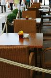 Restaurant op de straat royalty-vrije stock afbeelding