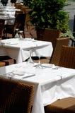 Restaurant op de straat Stock Foto