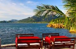 Restaurant op het strand Royalty-vrije Stock Foto