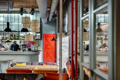 Restaurant with open kitchen Stock Photography