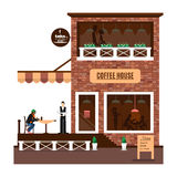 Restaurant Or Cafe Illustration In Flat Style. Vector Stock Photos