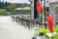 Restaurant Outdoor Patio Seating Stock Photography