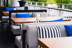 Restaurant outdoor set Royalty Free Stock Photos