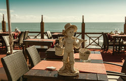 Restaurant over the Mediterranean Sea Royalty Free Stock Photo