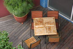 Restaurant overhead view Royalty Free Stock Images