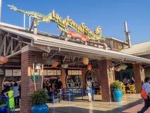 Restaurant Pacifique de quai, parc d'aventure de Disney la Californie Image libre de droits