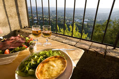 Restaurant with a panoramic view Royalty Free Stock Photo