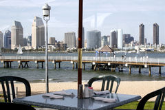 Restaurant par la plage Images libres de droits