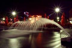 Restaurant par nuit Image stock