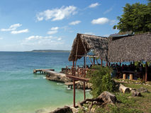 Restaurant in Paradise Island. Old restaurant in Paradise Beach (Guardalavaca - Cuba Stock Image