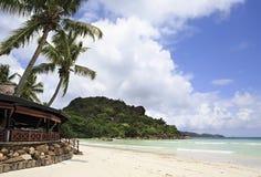 Restaurant in Paradise Sun Hotel Seychelles Royalty Free Stock Image