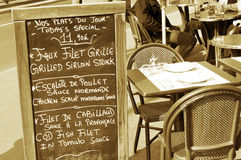 Restaurant in Paris Stock Photo