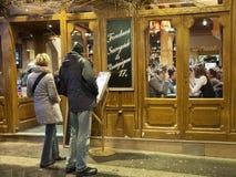 Restaurant in Paris stock photos