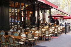 French Restaurant sidewalk cafe Paris France Royalty Free Stock Images